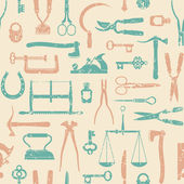 Vintage Tools And Instruments seamless pattern 1 — Stock Vector