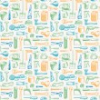 Tools Instruments Seamless Pattern 3 Vector — Stock Vector #64707979