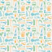 Tools Instruments Seamless Pattern 3 Vector — Stock Vector