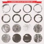 Grunge Circular Texture Backgrounds Vector — Stock Vector #66195057