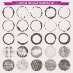 Grunge Circular Texture Backgrounds Frames 2 Vector — Stock Vector #67161015