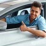 Happy Man inside Car of His Dream. — Stock Photo #54821609