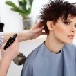 Hairdresser doing Hairstyle. — Stock Photo #54821613