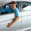 Happy Man inside Car of His Dream. — Stock Photo #54822239