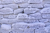 Frosty stone wall background — Stock Photo
