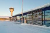Kittila airport tower and terminal building, Finland - Lapland — Stock Photo
