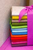 Colourful felt fabric — Stock Photo