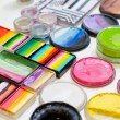 Sets of colorful face paints — Stock Photo #70064121