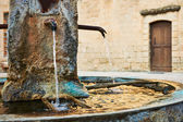 Ancient fountain in Provence — Stock Photo