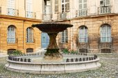 Old fountain in Aix en Provence, France — Stock Photo
