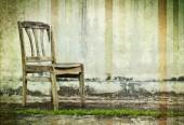 Vintage retro chair  — Stock Photo