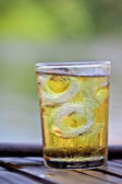 Glass of wiskey with ice — Stock Photo