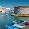 Town of Gallipoli on southern coast of Italy — Stock Photo #52863755
