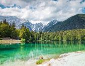 Lake Fusine in the Italian Alps — Stock Photo