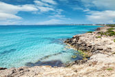 Turquoise beach near Gallipoli, Italy — Stock Photo