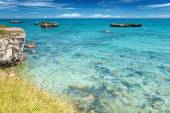 Crystal clear waters in southern Italy — Stock Photo