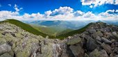 Panorama of mountains — Stock Photo