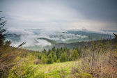 Clouds in the mountains HDR — Stock Photo