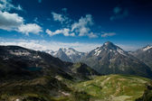 Panorama of the Caucasian mountains — Stock Photo