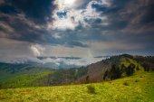 Carpathian mountain range — Stock Photo