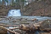 Waterfall in Carpathian mountains — Stock Photo