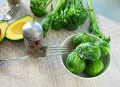 Brussel sprouts in a bowl — Stock Photo