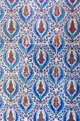 Macro view of tiles in Rustem Pasa Mosque, Istanbul — Stock Photo
