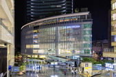 Osaka, Japan - April 29, 2014: View of Grand Front Osaka commercial complex. Grand Front is a large commercial complex north of JR Osaka Station in the Umeda district that was opened in 2013. — Stock Photo