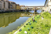 View of Ponte Vecchio in Florence, Italy — Stock Photo