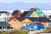 The colorful buildings of Ilulissat — ストック写真