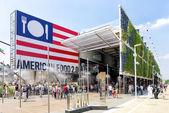 USA pavilion exterior at EXPO 2015 in Milan, Italy — Stock Photo
