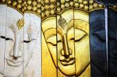 Traditional Thai style Buddha face from  Chiang Mai, Thailand — Stock Photo