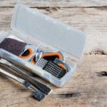 Bicycle tube repair kit in box — Stock Photo #68353813