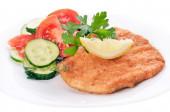 Chicken schnitzel with vegetables and herb — Foto de Stock