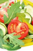 Fresh vegetable salad, close up view — Stock Photo