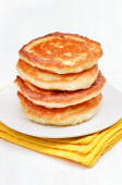 Curd pancakes stack — Stock Photo