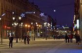 Malaya konyushennaya street in Petersburg, Russia — Foto de Stock