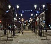 Malaya konyushennaya street in Petersburg, Russia — Stock Photo