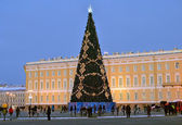 Christmas tree in St Petersburg, Russia — Stock Photo