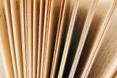 Pagina's uit het boek. close-up. — Stockfoto