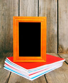 Back to school. Frame and writing-books. — Stock Photo