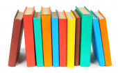 Livros multicoloridos. sobre fundo branco. — Fotografia Stock