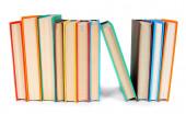 多色的书。白色背景上. — 图库照片