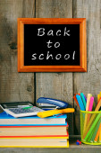 Back to school. Books and school tools . — Stock fotografie