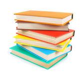 Libros multicolores. sobre fondo blanco. — Foto de Stock