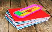 School tools and writing-books. — Stock Photo