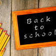 Back to school. Frame and pencils. — Stock Photo #52042465