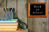Back to school. Books and school tools . — 图库照片
