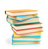 Libri multicolori. su sfondo bianco. — Foto Stock