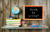 Back to school. Books and school tools . — Fotografia Stock